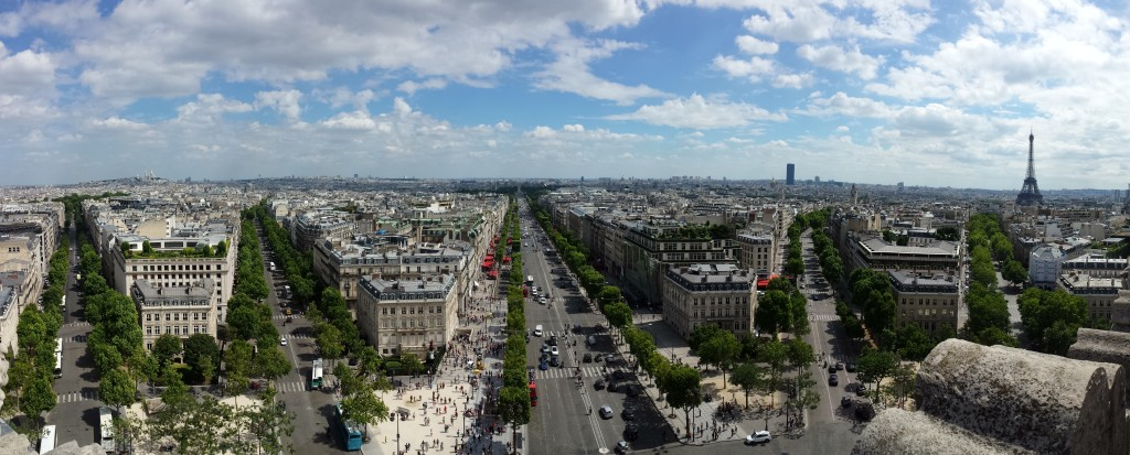 Panorama taken from atop the Arc de Triomphe, Paris
